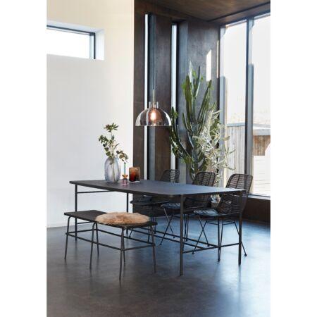 Zela eetkamerstoel Hübsch - zwart