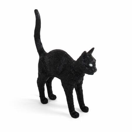 Jobby Cat lamp Seletti zwart