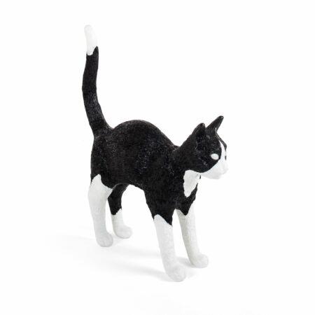 Jobby Cat lamp Seletti zwart - wit
