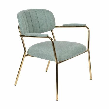 Jolien fauteuil Luzo armleuning lichtgroen