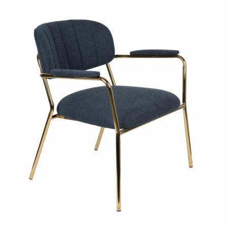 Jolien fauteuil Luzo armleuning donkerblauw