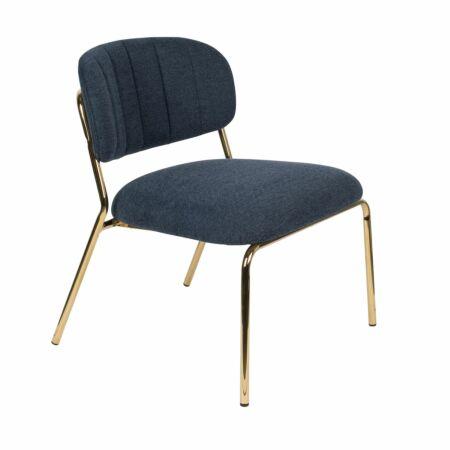 Jolien fauteuil Luzo donkerblauw