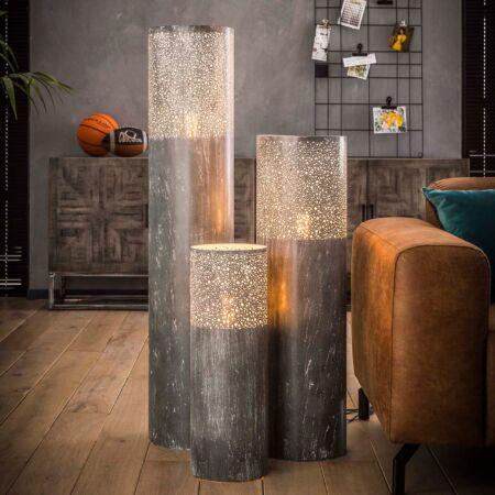 Concrete vloerlamp Kay - H60xØ20