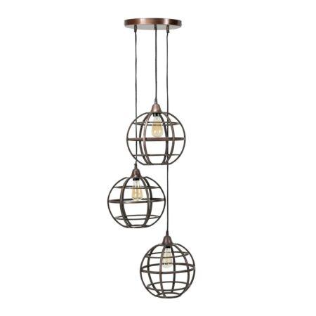 Globe hanglamp Kay - getrapt
