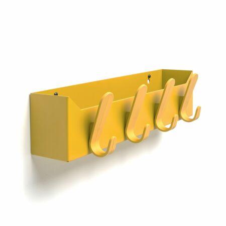 Krok Box wandkapstok Van Esch geel