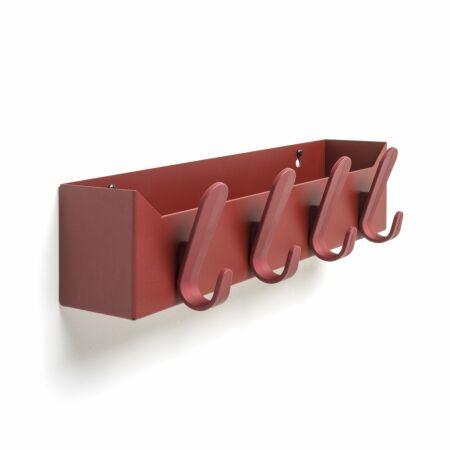 Krok Box wandkapstok Van Esch rood