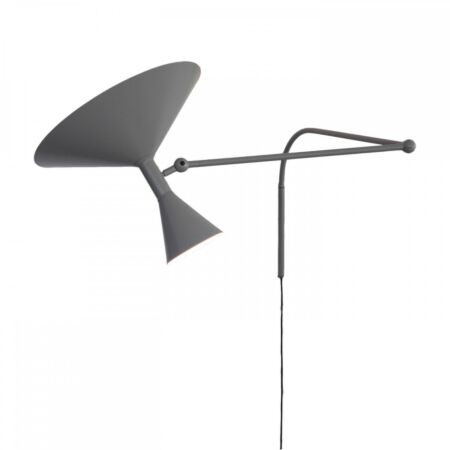 Lampe de Marseille wandlamp Nemo grijs