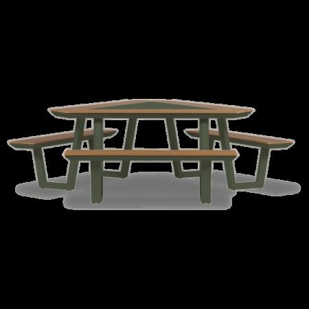 Jip picknickset driehoek Lanterfant - Mosgroen