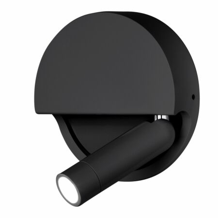 Ledtube R wandlamp Marset rechts - zwart
