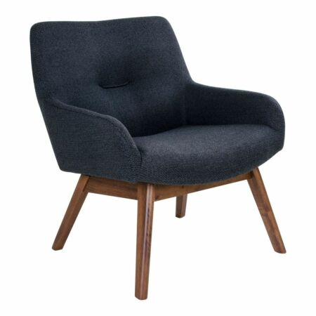London fauteuil House Nordic walnoot - donkergrijs
