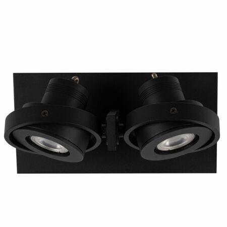 Luci LED spot Zuiver dubbel - zwart
