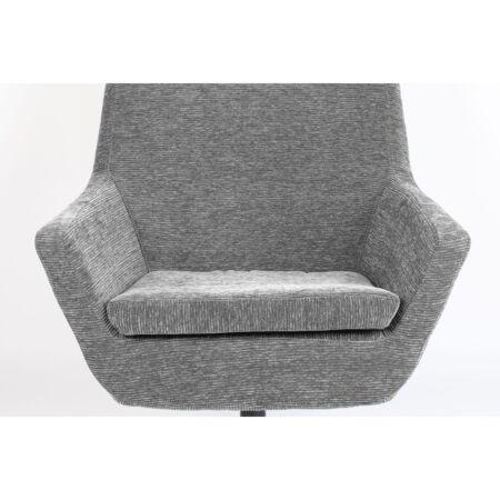Bruno fauteuil Luzo - Rib Licht Grijs