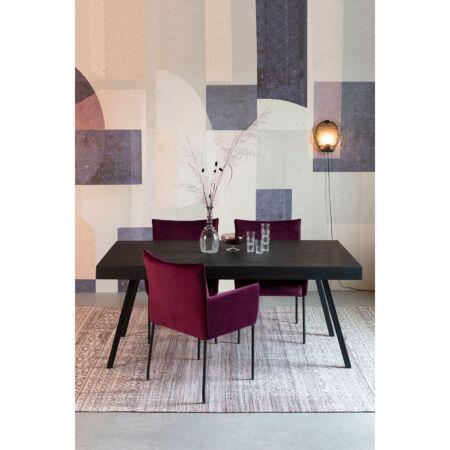 Suri eettafel Luzo 220x100cm - Zwart