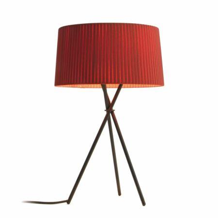 Tripode M3 tafellamp Santa & Cole rood amber