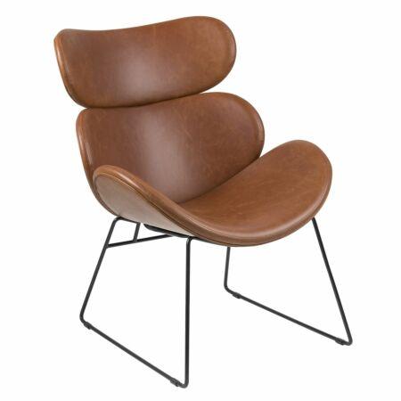 Magdalone fauteuil Liv cognac