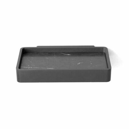 Shower Tray zeepschaaltje Menu zwart - marmeren inlay