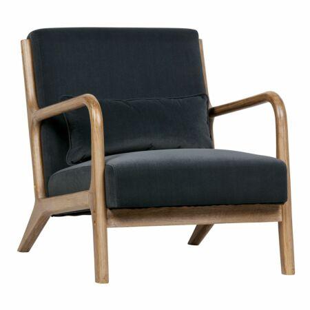 Mark fauteuil Woood antraciet