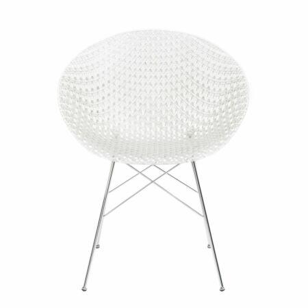 OUTLET - Smatrik stoel Kartell verchroomd - kristal