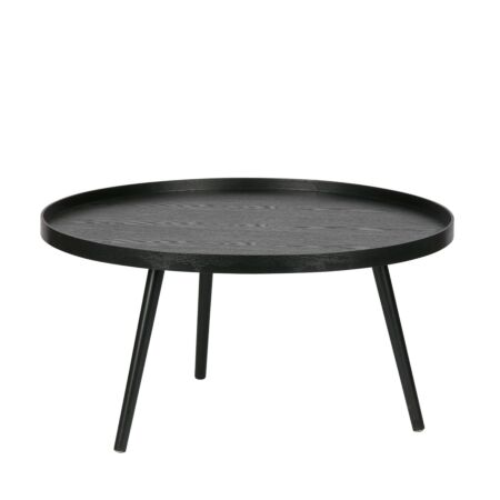 Mesa bijzettafel Woood - zwart Ø78