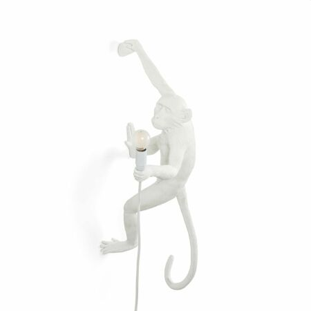 Monkey Outdoor wandlamp Seletti rechts wit