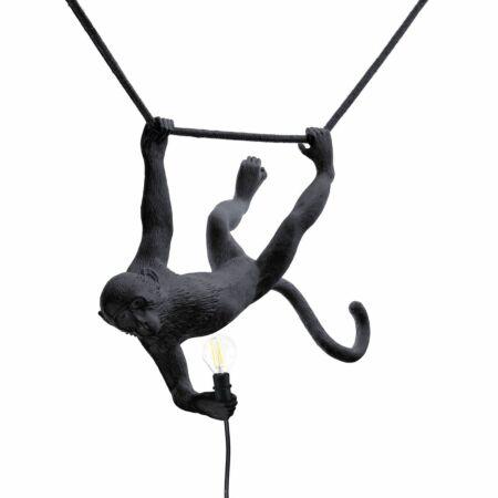 Monkey Outdoor hanglamp Seletti swing zwart