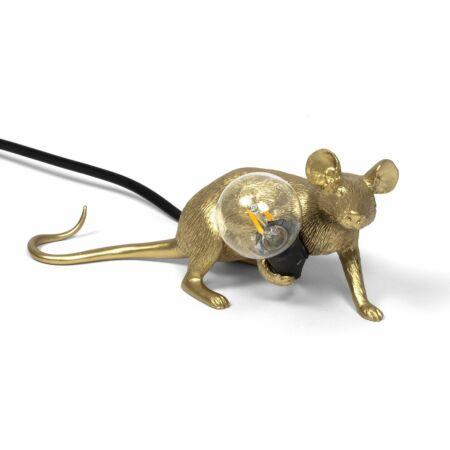 Mouse tafellamp Seletti liggend goud