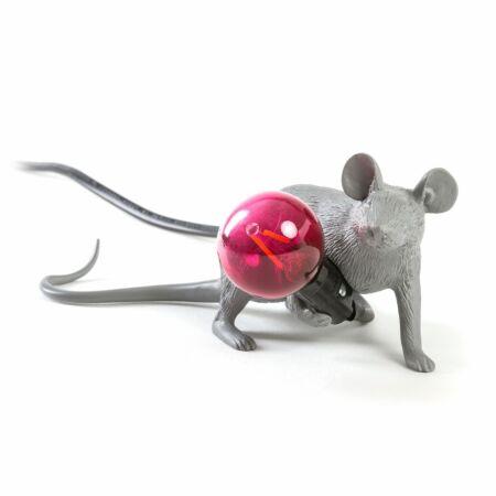 OP = OP - Mouse tafellamp Seletti liggend grijs