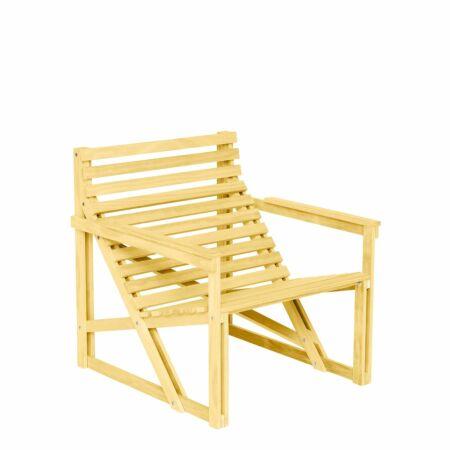 Patio fauteuil Weltevree geel