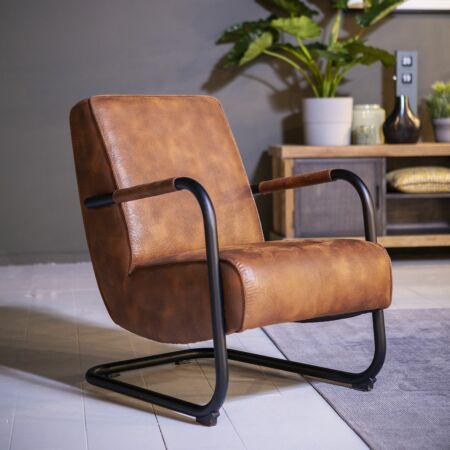 Pien fauteuil Eleonora cognac