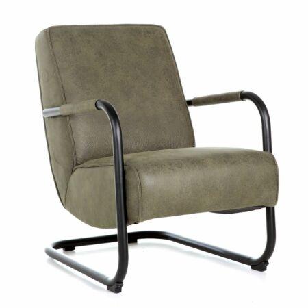Pien fauteuil Eleonora groen