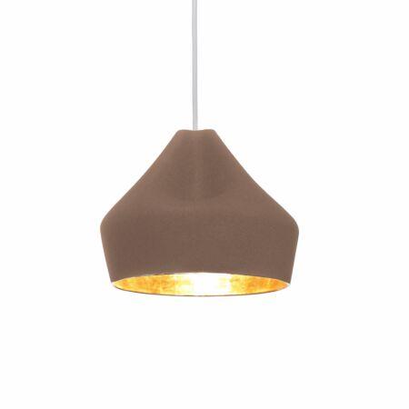 Pleat Box 24 hanglamp Marset goud - bruin