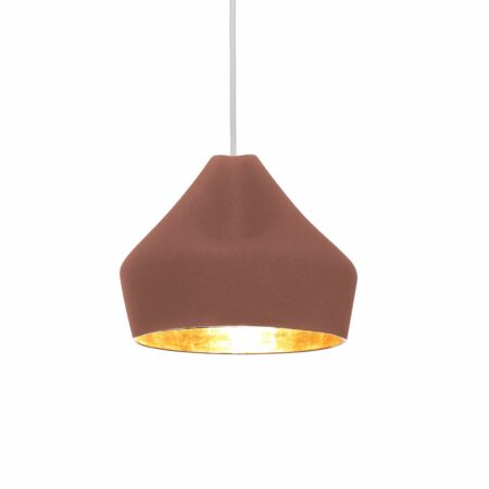 Pleat Box 24 hanglamp Marset goud - terracotta