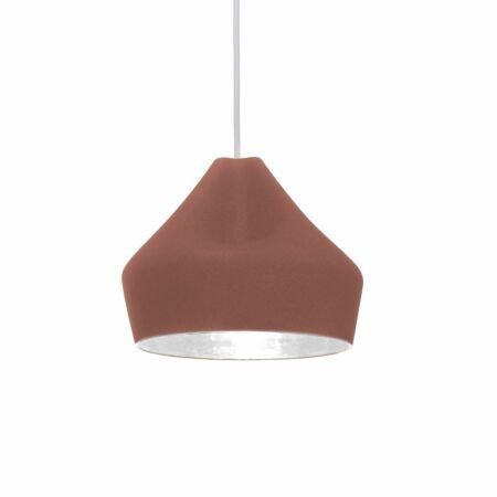 Pleat Box 24 hanglamp Marset wit - terracotta