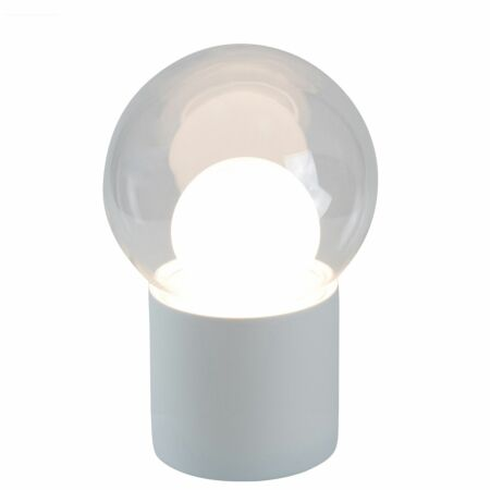 Boule vloerlamp Pulpo 82,5 transparant/opaal wit