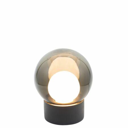 Boule tafellamp Pulpo 33,5 grijs/opaal zwart