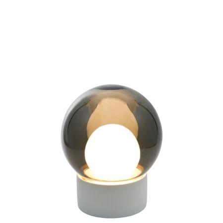 Boule tafellamp Pulpo 33,5 grijs/opaal wit