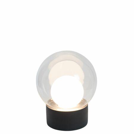 Boule tafellamp Pulpo 33,5 transparant/opaal zwart