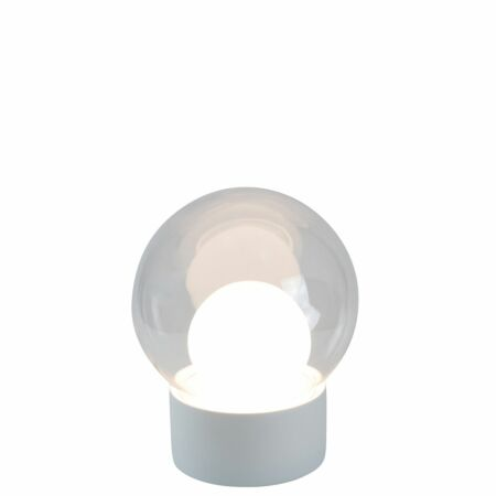 Boule vloerlamp Pulpo 74 transparant/opaal wit