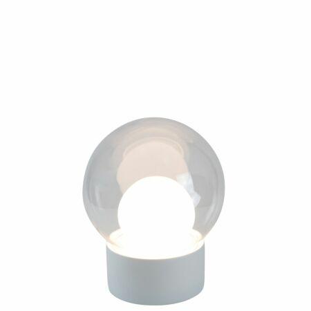 Boule tafellamp Pulpo 33,5 transparant/wit wit