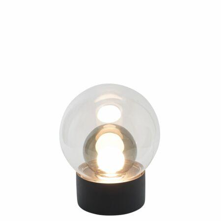 Boule tafellamp Pulpo 33,5 transparant/grijs zwart