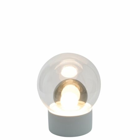 Boule tafellamp Pulpo 33,5 transparant/grijs wit