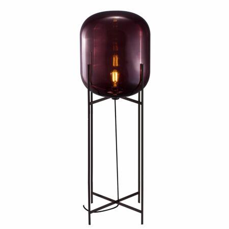 Oda vloerlamp Pulpo 140 helder aubergine/zwart