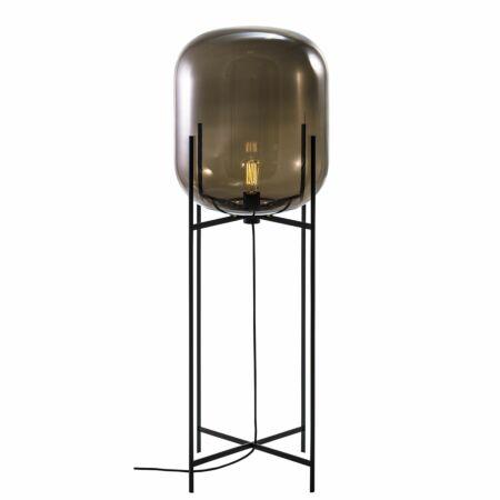 Oda vloerlamp Pulpo 140 helder grijs/zwart