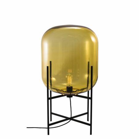 Oda vloerlamp Pulpo 85 helder amber/zwart