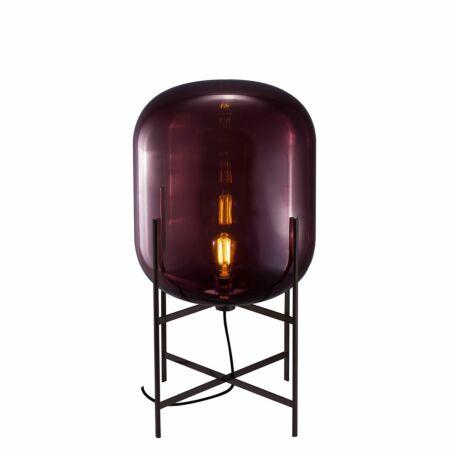 Oda vloerlamp Pulpo 85 helder aubergine/zwart