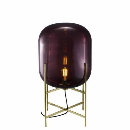 Oda vloerlamp Pulpo 85 helder aubergine/messing