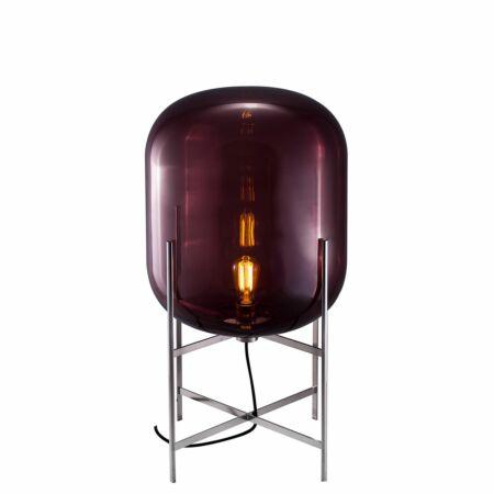 Oda vloerlamp Pulpo 85 helder aubergine/chroom