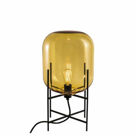 Oda tafellamp Pulpo 45 helder amber/zwart