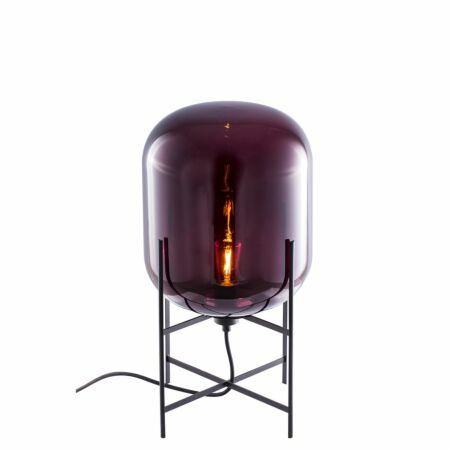 Oda tafellamp Pulpo 45 helder aubergine/zwart