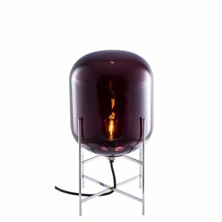 Oda tafellamp Pulpo 45 helder aubergine/chroom